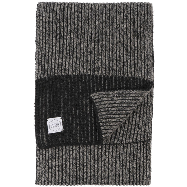 Ragg Wool Scarf - Charcoal Melange - front
