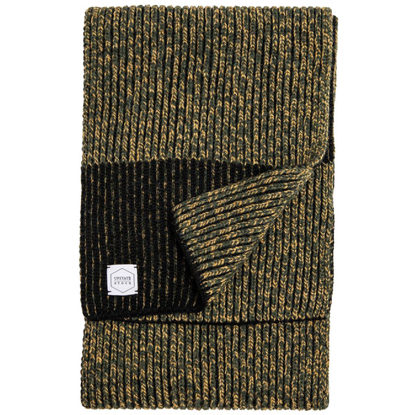 Ragg Wool Scarf - Jungle Melange - front