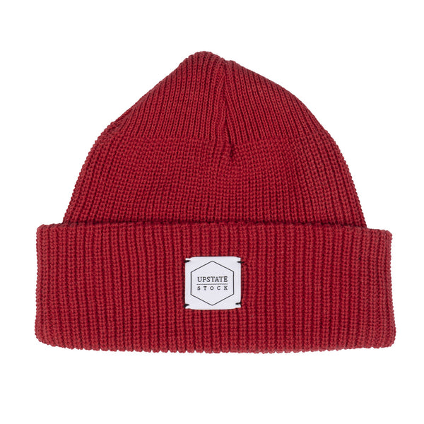 100% Eco Cotton Watchcap - Cherry Red
