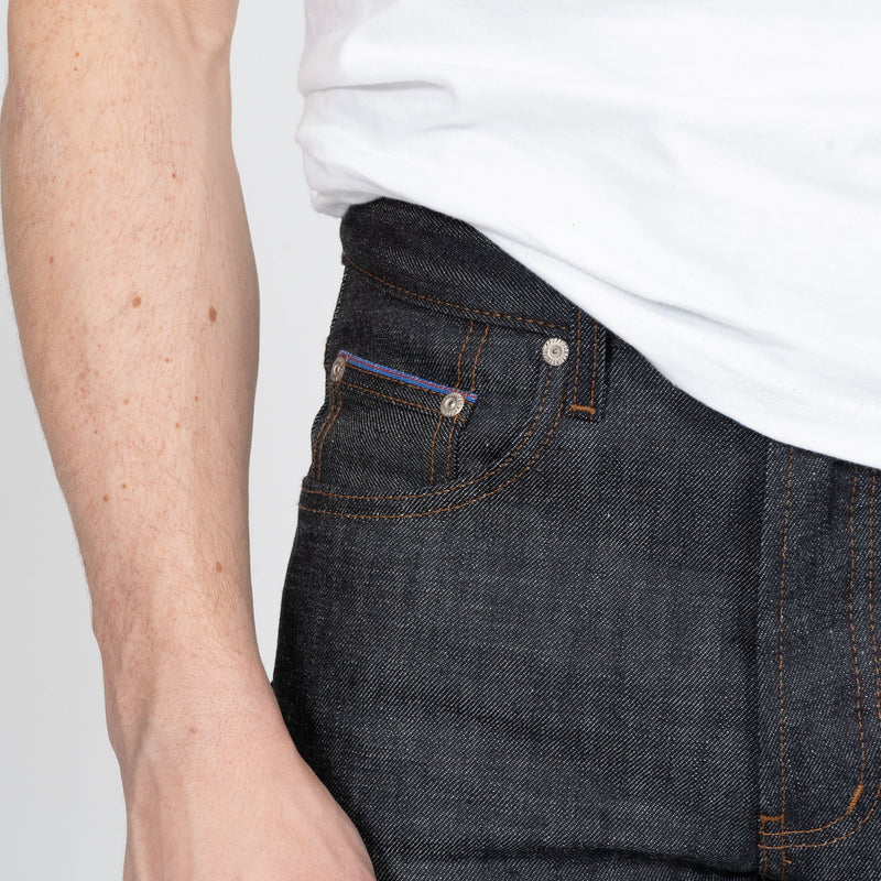 Easy Guy - Blue Core Selvedge - coin pocket shot