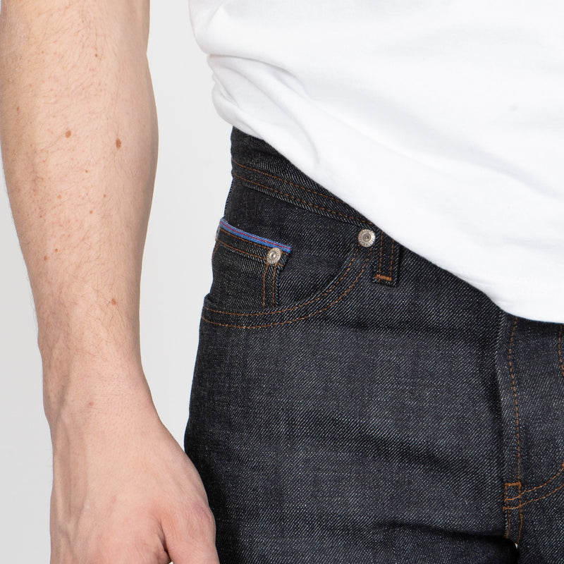 Weird Guy - Blue Core Selvedge - coin pocket shot