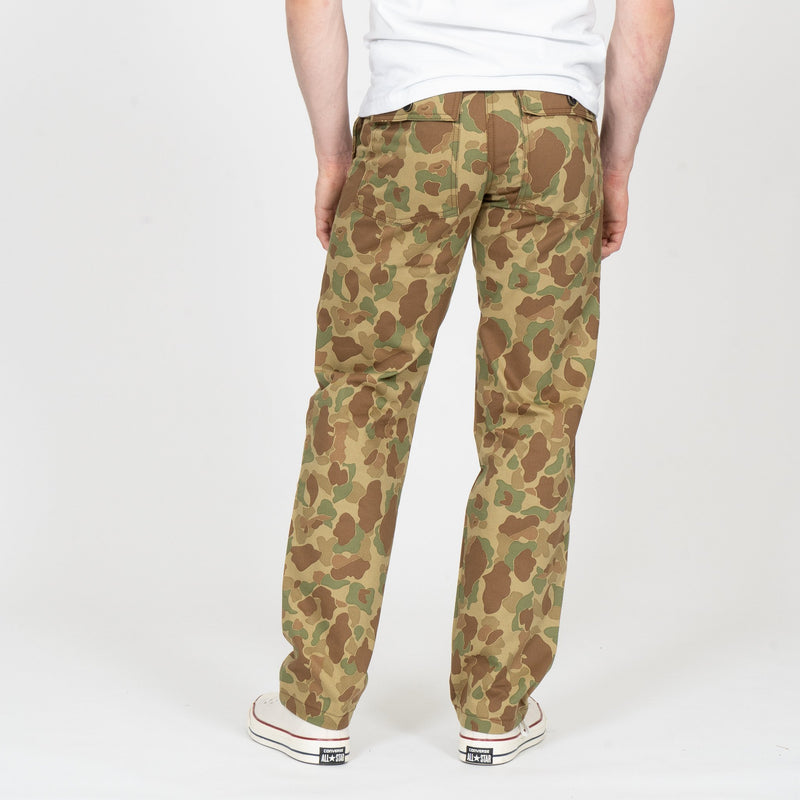 Work Pant - Double Sided Camo - Green - back shot