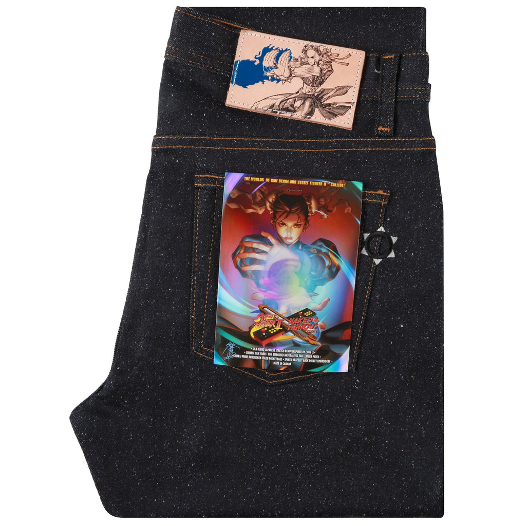 Weird Guy - Chun Li Silk Lightning Leg Denim