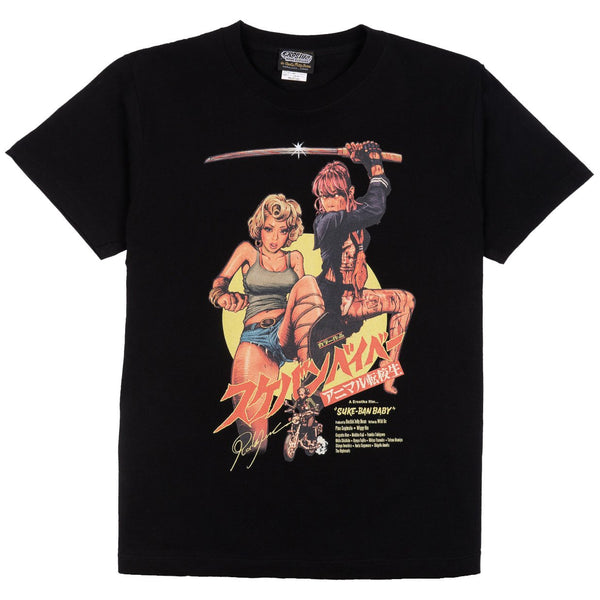 Sukeban Baby Full Color T-Shirt - Black