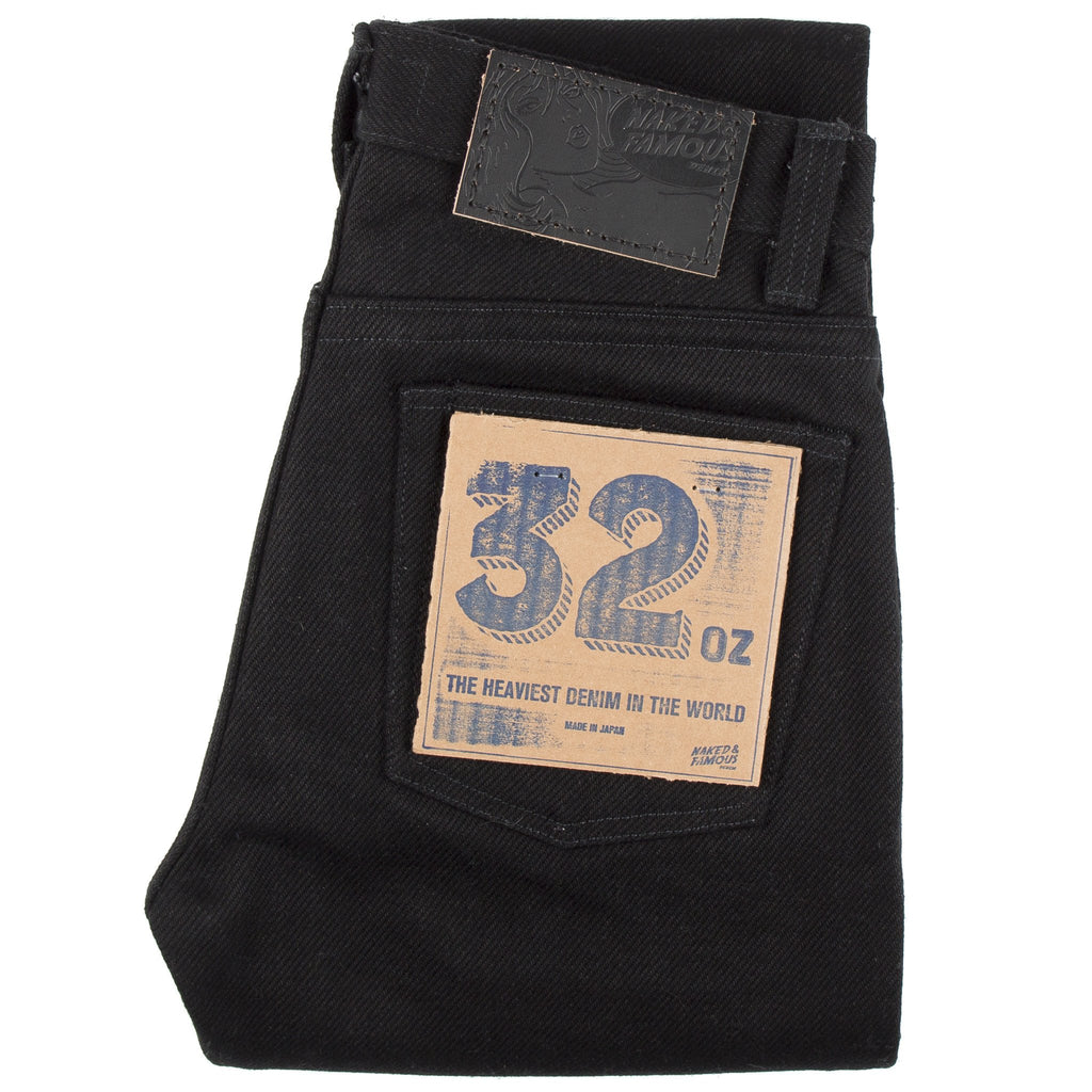 Weird Guy Super Heavyweight 32oz Selvedge - Solid Black