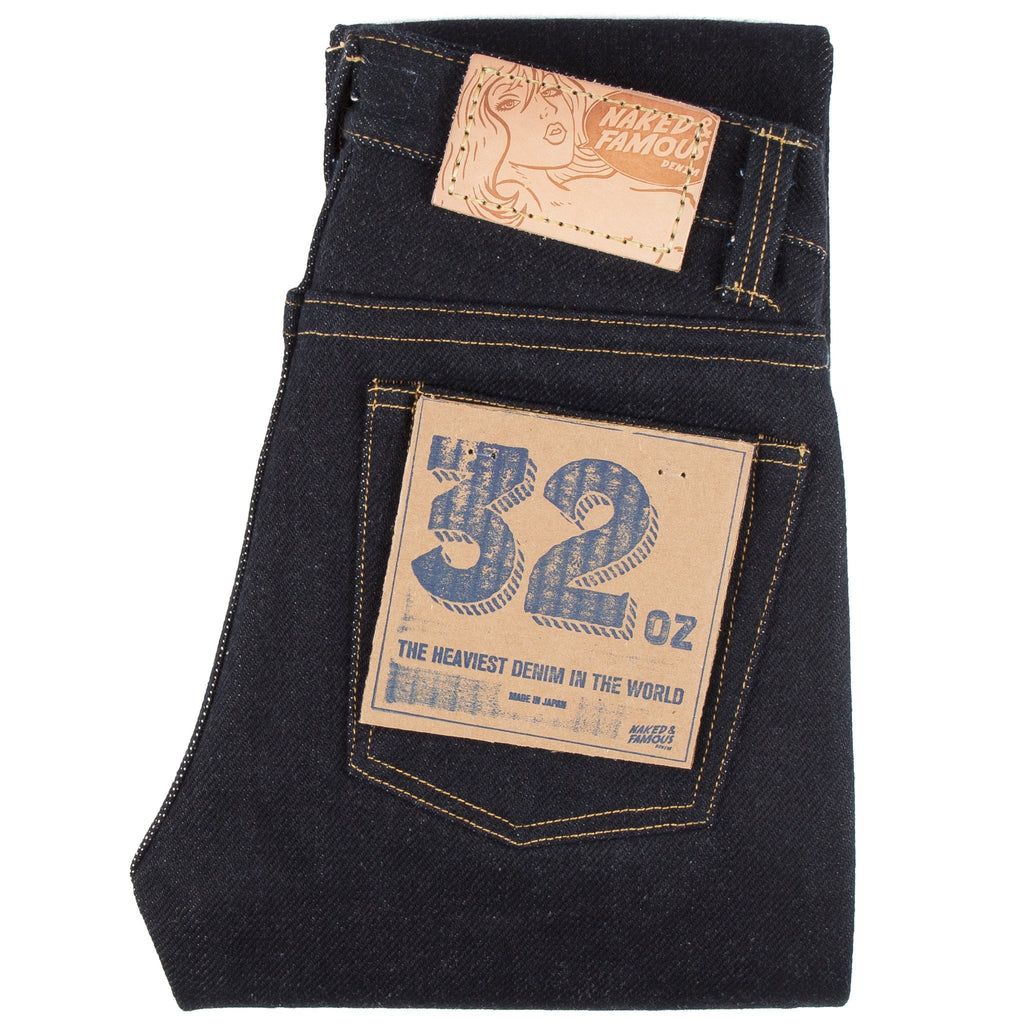 The heaviest denim in the world by 32oz Naked & Famous Denim
