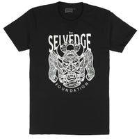 [MISPRINT] Circular Knit T Shirt Black - The Selvedge Foundation - White Print | Naked & Famous Denim