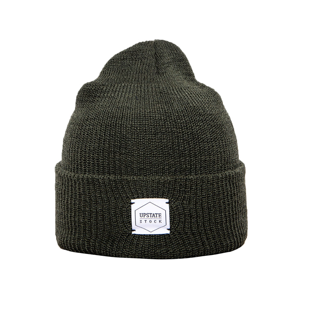100% Wool Watchcap - Olive
