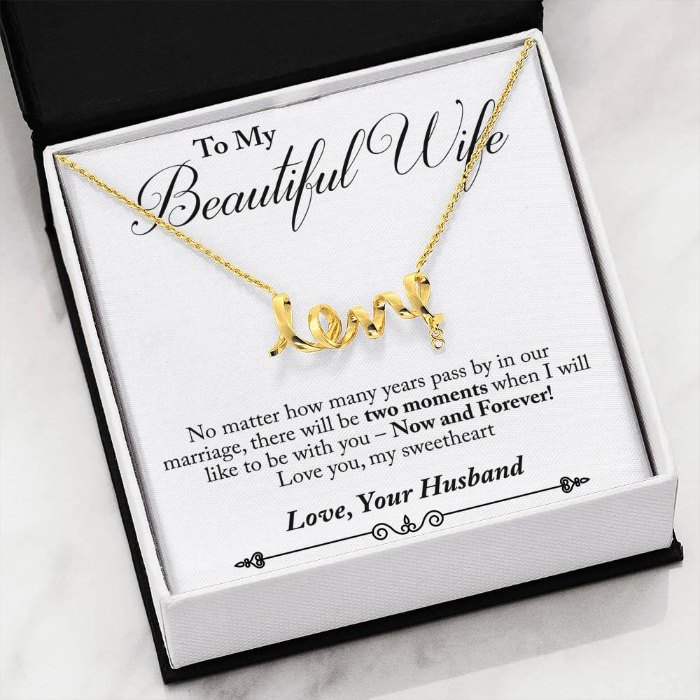 Husband to Wife - Now & Forever (Love Character Necklace)- English