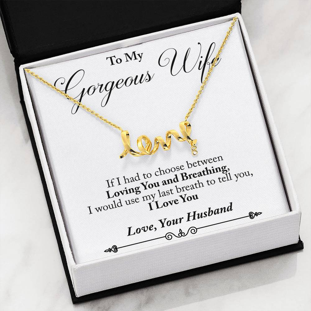 Husband to Wife - Last Breath (Love Character Necklace)- English