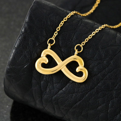 For Wife - Heart to Heart (Connected Heart Necklace) - Danish
