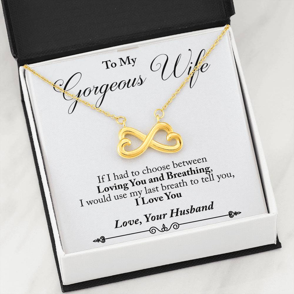 Husband to Wife - Last Breath (Connected Heart Necklace) - English