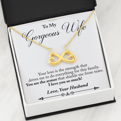 Husband to Wife - Your Love is Strength (Connected Heart Necklace)- English