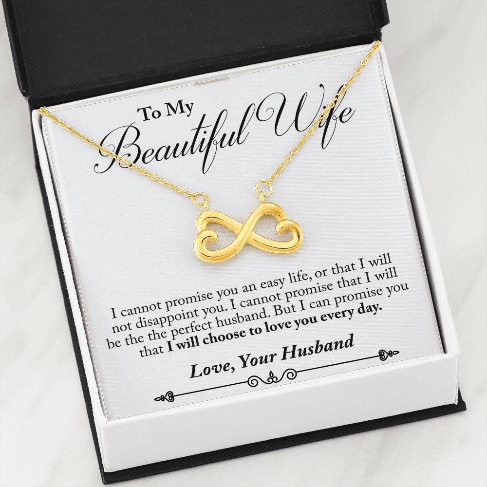 Husband to Wife - Love You Everyday (Connected Heart Necklace)- English