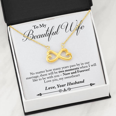Husband to Wife - Now & Forever! (Connected Heart Necklace) - English