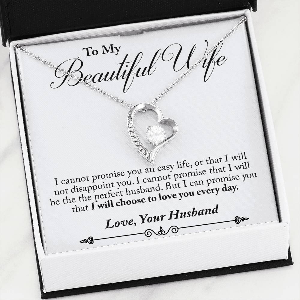 Husband to Wife - Love You Every Day (Love Diamond Necklace) - English