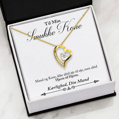 For Wife - Heart to Heart (Love Diamond Necklace)- Danish