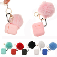 Airpods Protective with Fur Ball Keychain