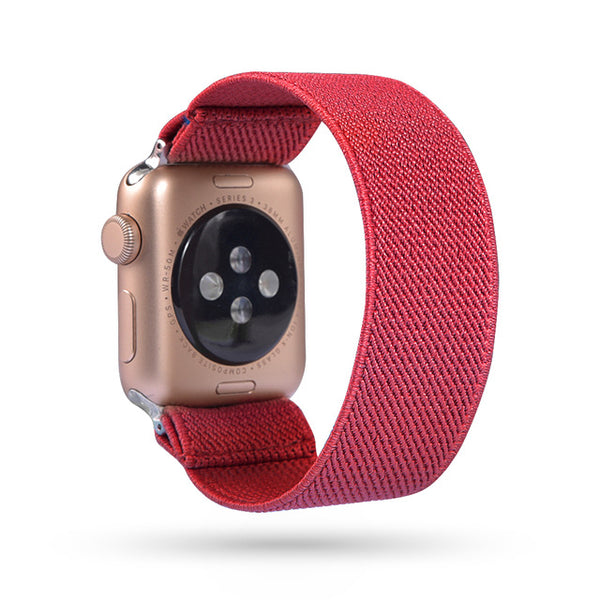 Sport Scrunchie Elastic Nylon for Apple Watch Band Fitness Lady Women WristWatch Band Strap for IWatch 38mm 40mm 42mm 44mm