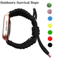 Outdoors Survival Rope Strap for Apple Watch 5 4 Band 44 Mm 40mm 42mm 38mm for IWatch Bracelet Series 5 4 3 44mm Stretchable