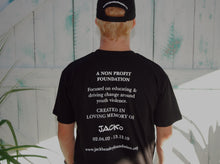 Load image into Gallery viewer, JBF T-Shirt with Foundation blurb on the back