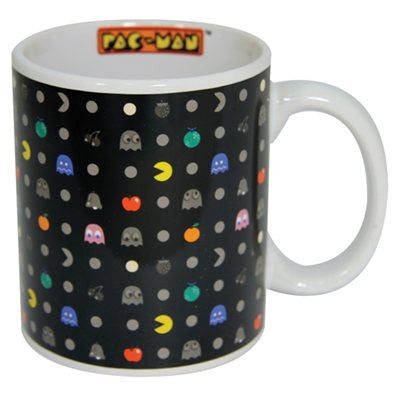 Pac-Man Characters on Black Mug
