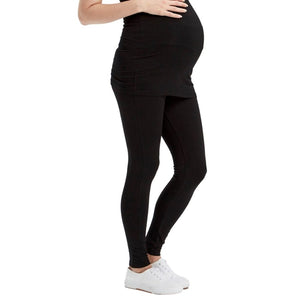 Soft Bamboo Maternity Leggings - Black