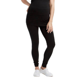 Load image into Gallery viewer, Soft Bamboo Maternity Leggings - Black