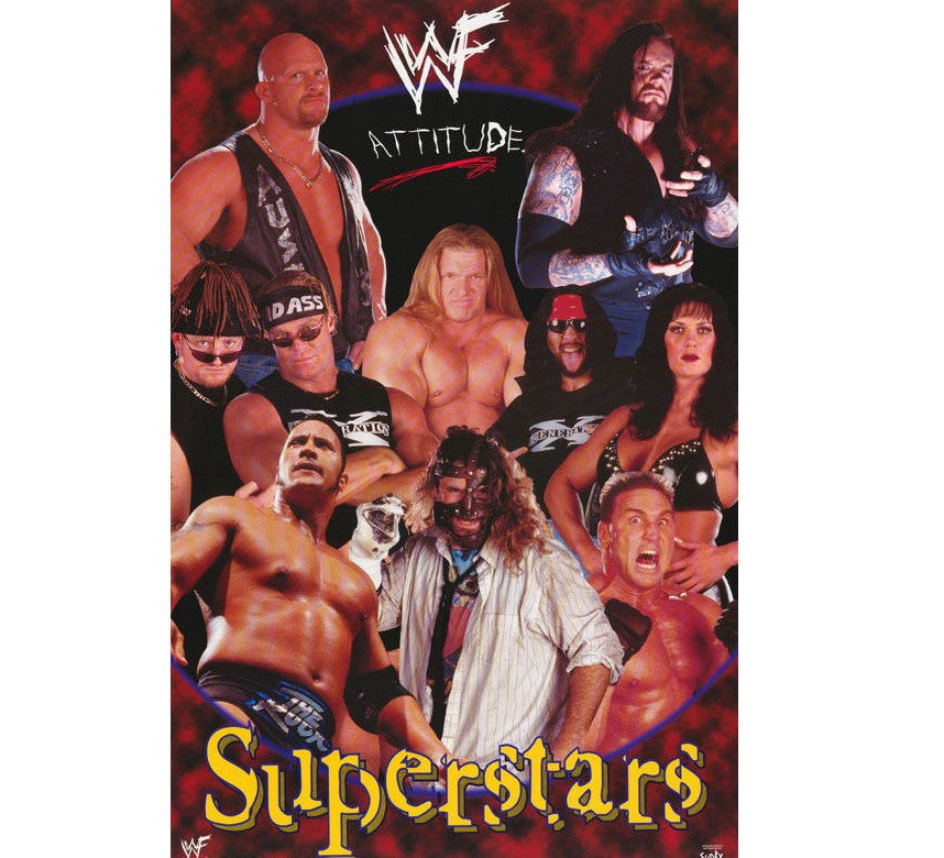 WWF Vintage Superstars Poster