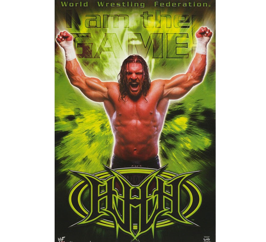 HHH Vintage WWF 90's Poster - And Still