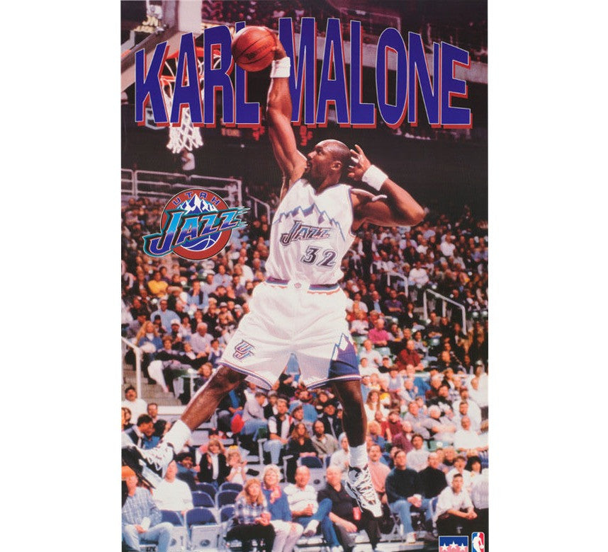 Karl Malone Jazz 90's Poster - And Still
