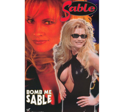 Sable Vintage WWF 90's Poster