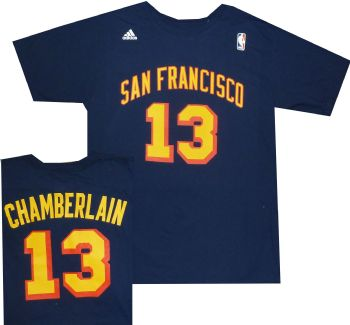 Wilt Chamberline Warriors Adidas Shirt