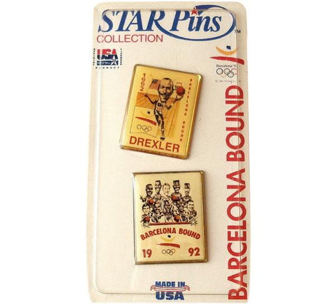 Dream Team Drexler Pin Set