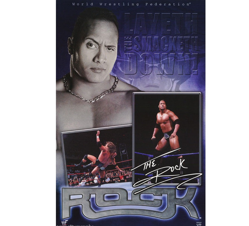 The Rock Vintage WWF Poster