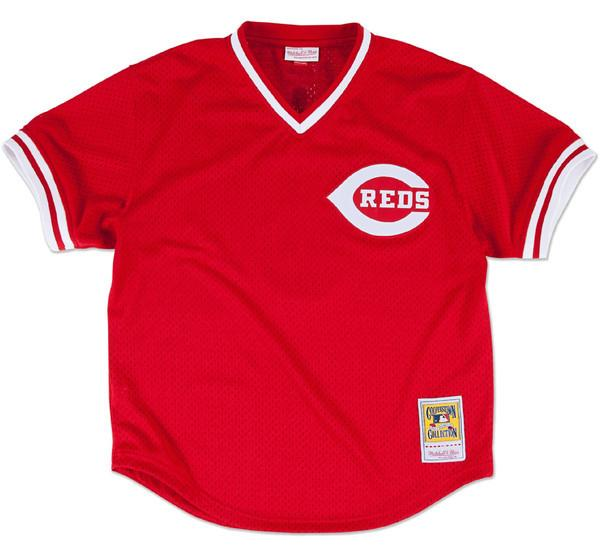 Johnny Bench Reds BP Jersey