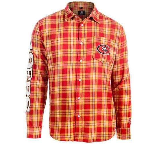 49ers Retro NFL Flannel Shirt