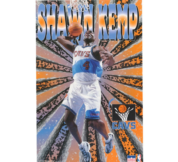 Shawn Kemp Cavaliers Poster Cleveland Seattle Sonics Snapback Shirt