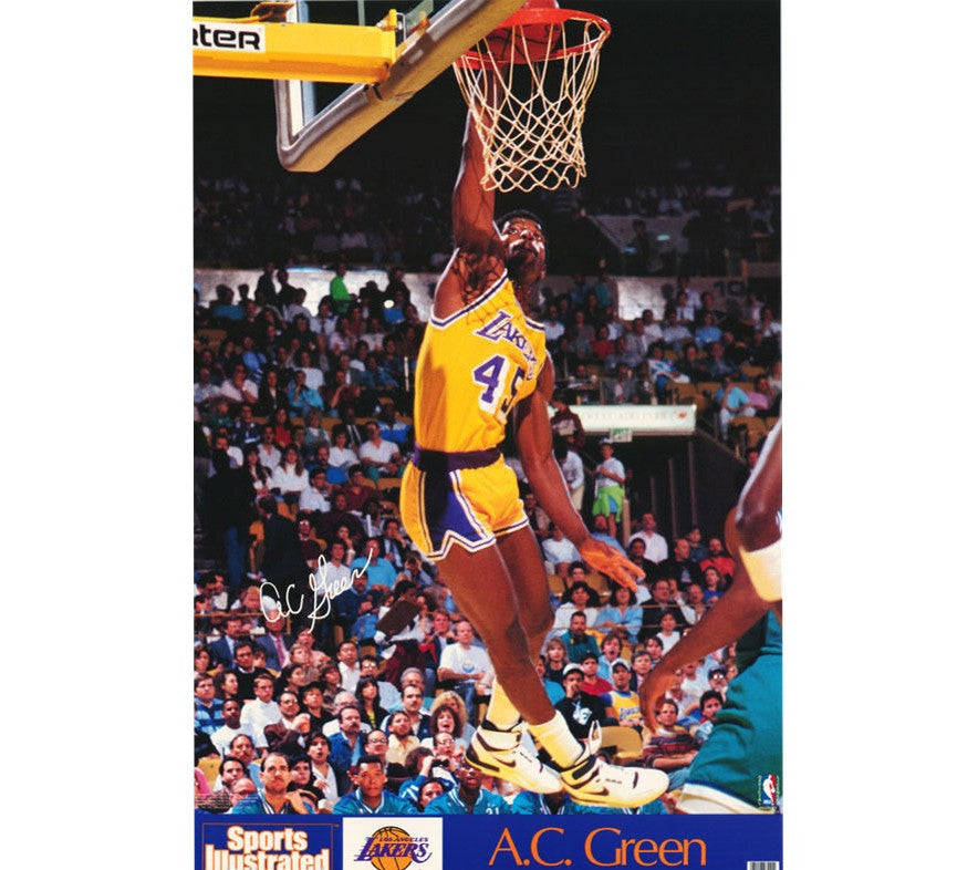 A.C. Green Vintage Lakers Poster - And Still