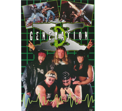 DX Vintage 90's WWF Poster - And Still