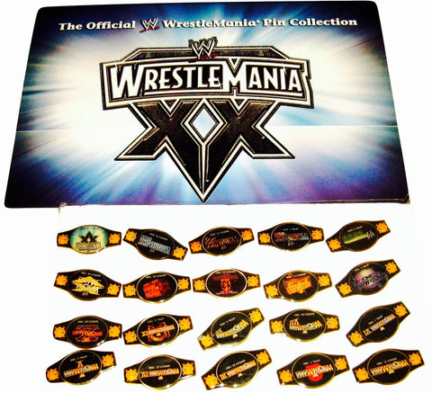WWF Wrestlemania Pin Set (20)