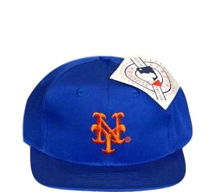 New York Mets Heather Arch Starter Script 90s Vintage Annco Snapback ... 4c1dca87802