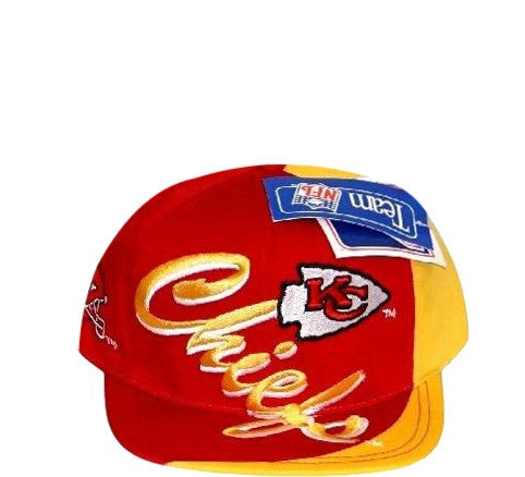32285149dc6512 Chiefs Vintage Snapback Hat Kansas City Throwback NFL Rare 90's ...