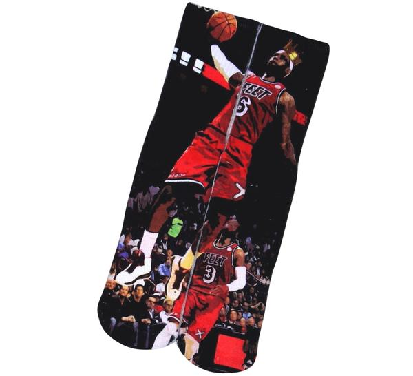 Lebron James Sublimated Socks