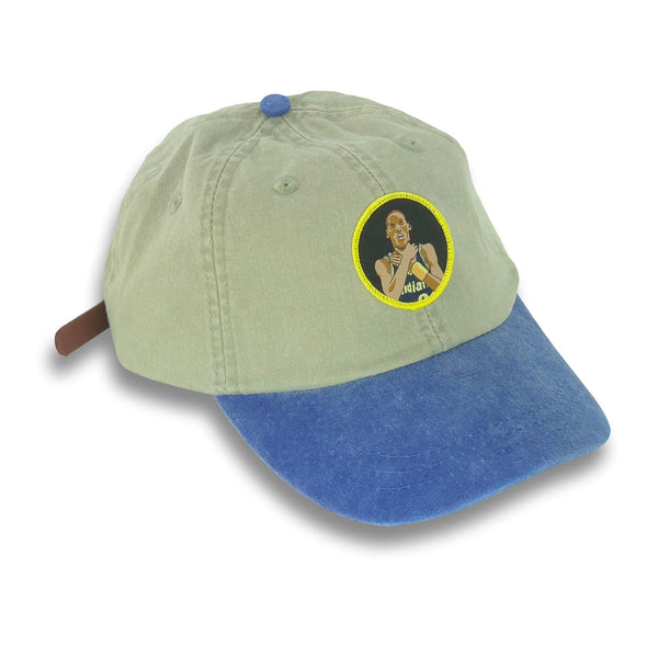 """Knick Killer"" Hat (khaki/blue)"