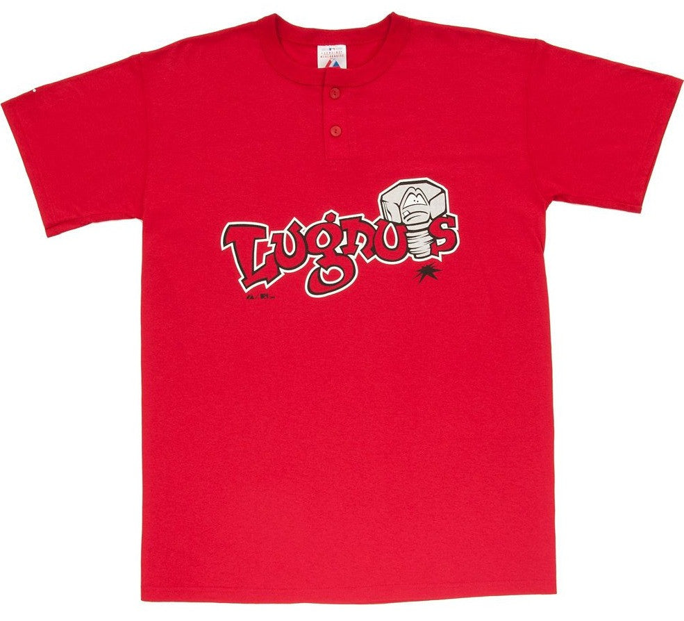 Lansing Lugnuts Retro Henley - And Still