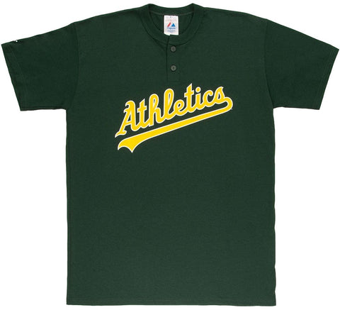 Athletics Retro MLB Henley Shirt - And Still