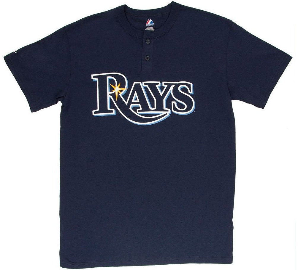 Rays Retro MLB Henley Shirt
