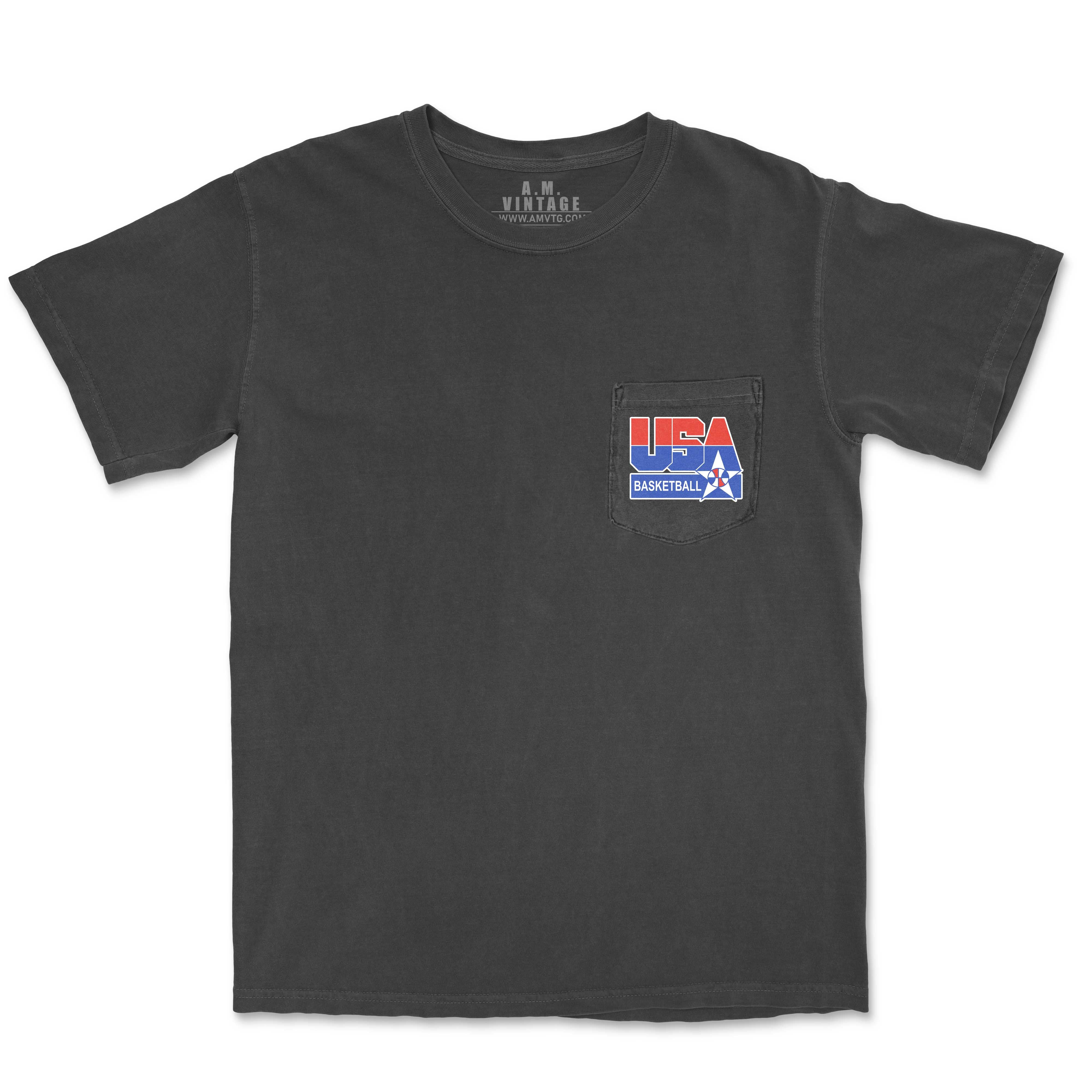 1992 Dream Team Pocket T-Shirt (charcoal)