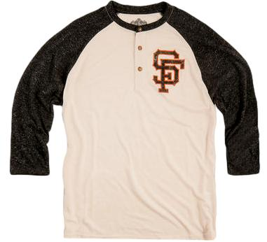 Giants Retro MLB Henley Shirt